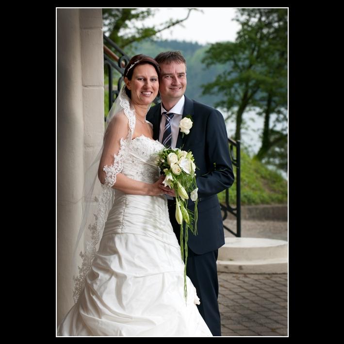 Brudepar fotograferet på Koldingfjord