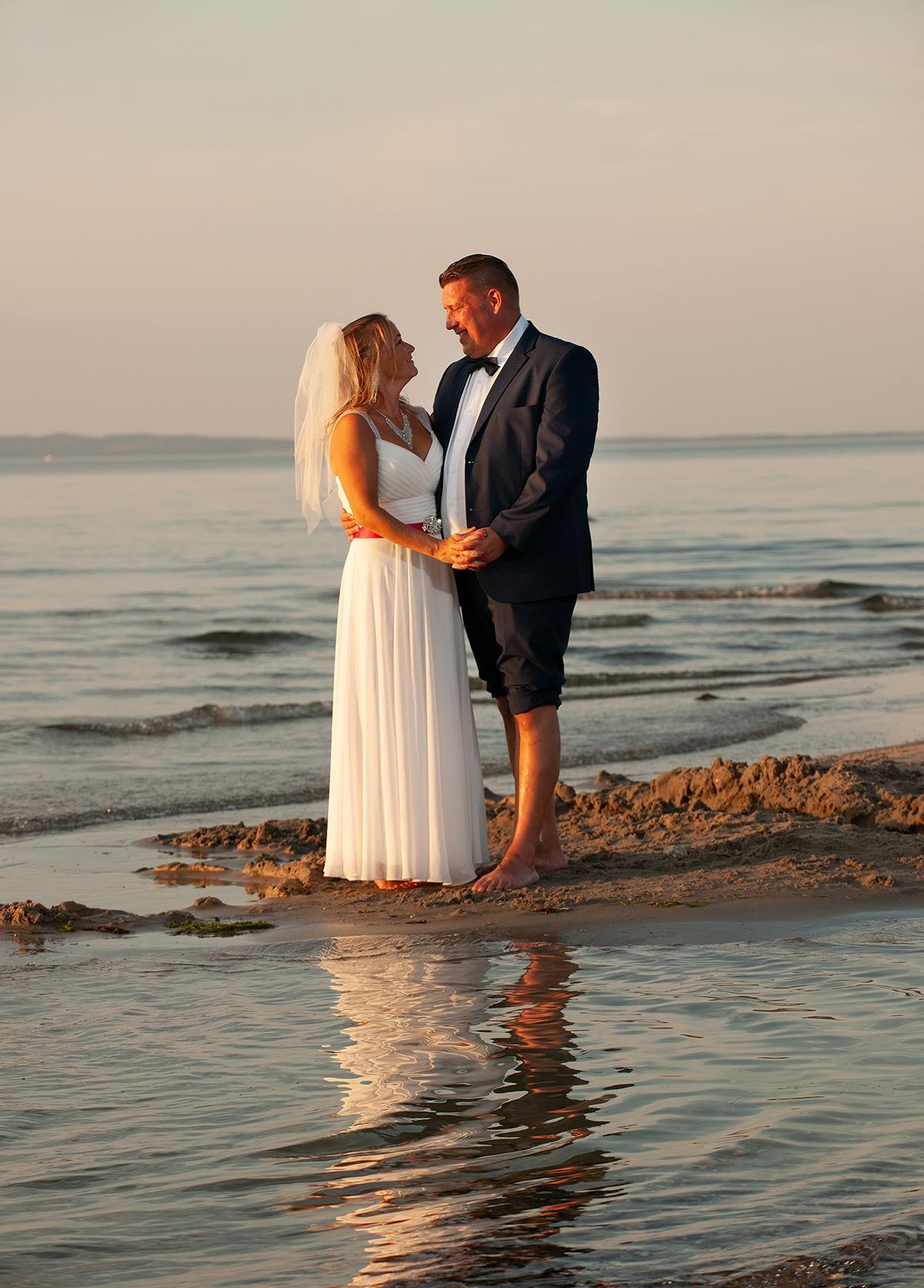 bryllupsfoto ved nordkysten