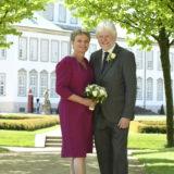 Anne og Per blev fotograferet i Fredensborg Slotshave af fotograf Peter Dahlerup