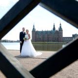 Bryllupsfoto ved Frederiksborg Slot