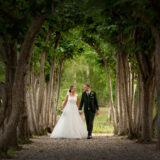 Bryllupsfoto i privat have