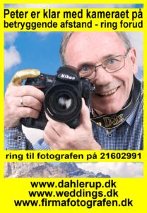 Fotografen Peter Dahlerup har studie i Fredensborg i Nordsjælland men kommer overalt på Sjælland og især i København - info på 21602991